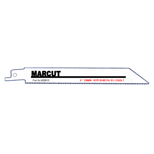 "MARCUT SABRE SAW BLADES 6"" 10TPI 