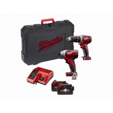 Milwaukee Compact Percussion Drill & Compact Impact Driver Set